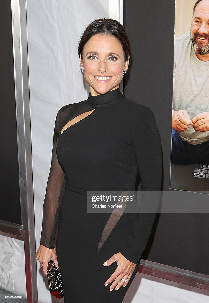 <a gi-track='captionPersonalityLinkClicked' href=/galleries/search?phrase=Julia+Louis-Dreyfus&family=editorial&specificpeople=208965 ng-click='$event.stopPropagation()'>Julia Louis-Dreyfus</a> attends 'Enough Said' New York Screening at Paris Theater on September 16, 2013 in New York City.