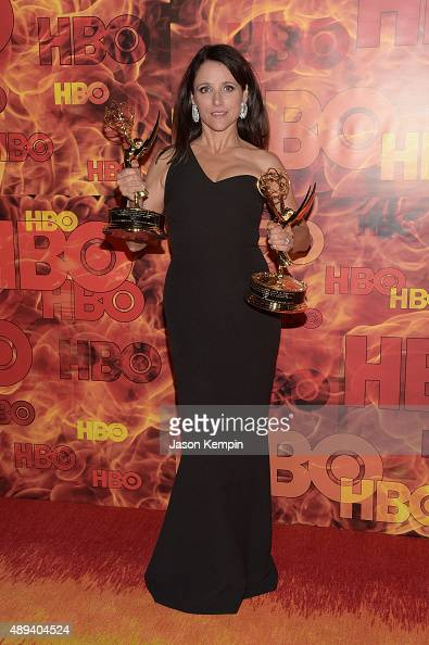 Julia LouisDreyfus attends HBO's Official 2015 Emmy After Party at The Plaza at the Pacific Design Center on September 20 2015 in Los Angeles...