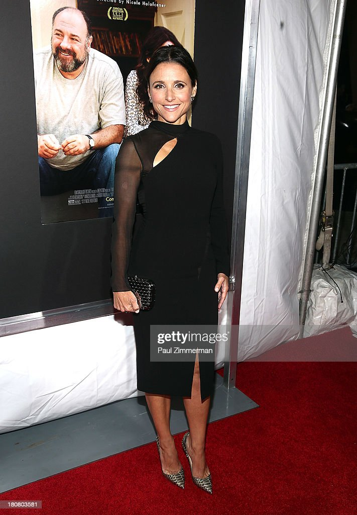 <a gi-track='captionPersonalityLinkClicked' href=/galleries/search?phrase=Julia+Louis-Dreyfus&family=editorial&specificpeople=208965 ng-click='$event.stopPropagation()'>Julia Louis-Dreyfus</a> attends the 'Enough Said' New York Screening at Paris Theater on September 16, 2013 in New York City.