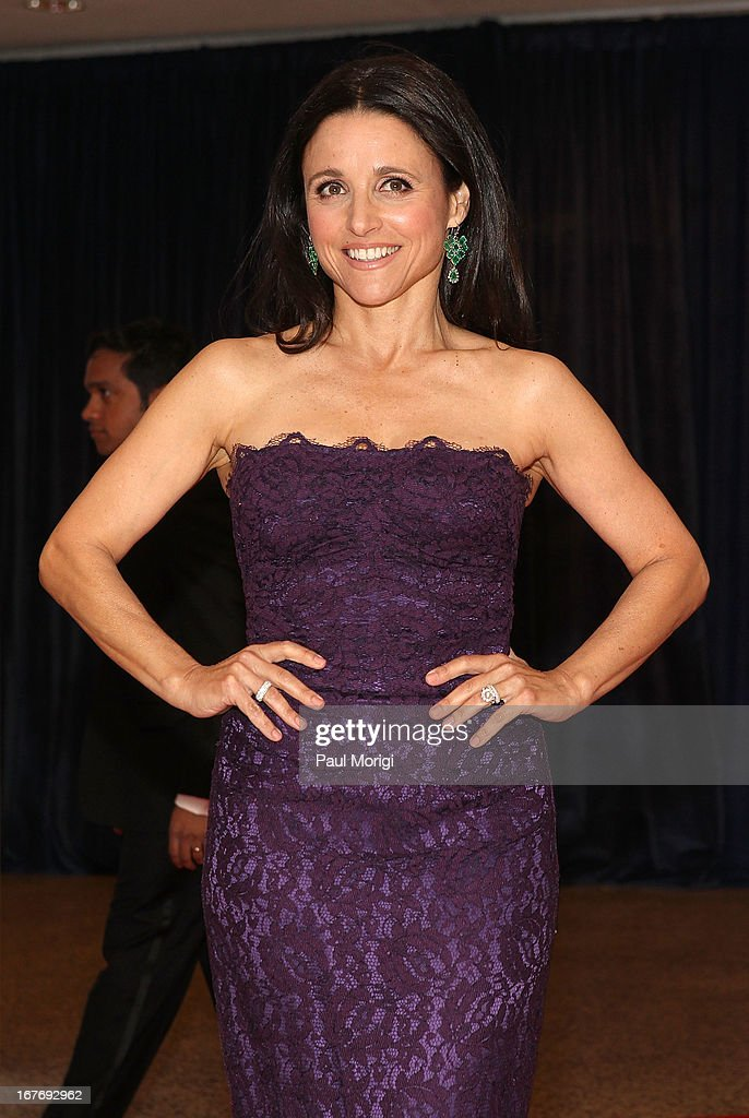 Julia Louis-Dreyfus attends the White House Correspondents' Association Dinner at the Washington Hilton on April 27, 2013 in Washington, DC.