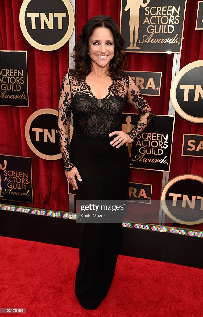 Julia LouisDreyfus attends TNT's 21st Annual Screen Actors Guild Awards at The Shrine Auditorium on January 25 2015 in Los Angeles California...
