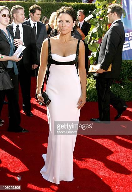 Julia LouisDreyfus during 58th Annual Primetime Emmy Awards Arrivals at Shrine Auditorium in Los Angeles California United States