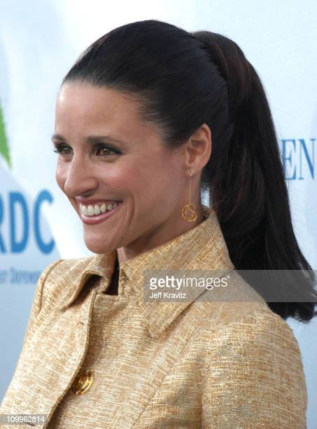 Julia LouisDreyfus during NRDC's Earth To LA The Greatest Show On Earth Arrivals at Wadsworth Theater in Los Angeles California United States