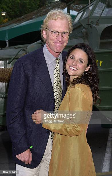 Julia LouisDreyfus husband Brad Hall during HBO Networks 'Band Of Brothers' Hollywood Premiere at The Hollywood Bowl in Hollywood California United...