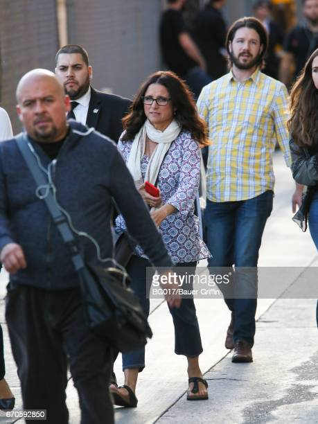Julia LouisDreyfus is seen at 'Jimmy Kimmel Live' Show on April 19 2017 in Los Angeles California