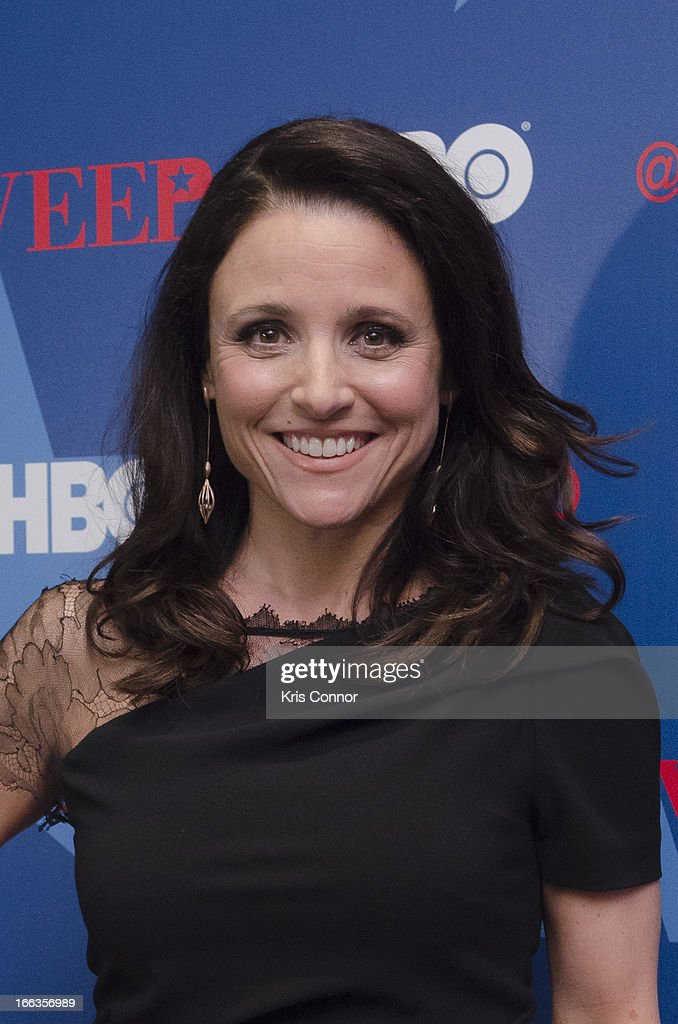 Julia Louis-Dreyfus poses for photo during the HBO's 'VEEP' Season 2 Premiere at Motion Picture Association of America on April 11, 2013 in Washington, DC.