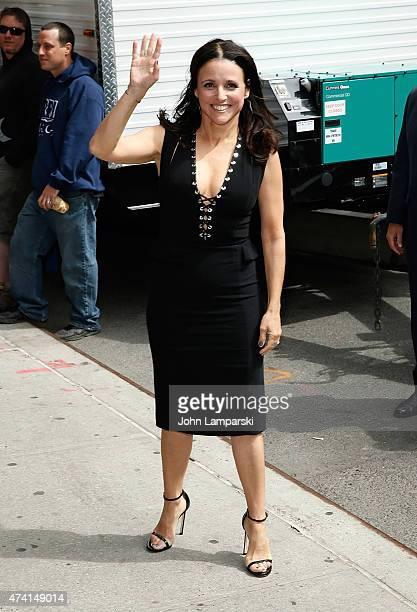Julia LouisDreyfus visits 'Late Show With David Letterman' at Ed Sullivan Theater on May 20 2015 in New York City