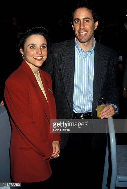 Julia LouisDreyfuss and Jerry Seinfeld at the NAPTE Convention Moscone Convention Center San Francisco