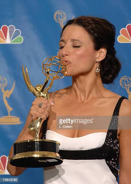 Julia LouisDreyfuss winner Outstanding Lead Actress in a Comedy Series for 'The New Adventures of Old Christine' at the Shrine Auditorium in Los...