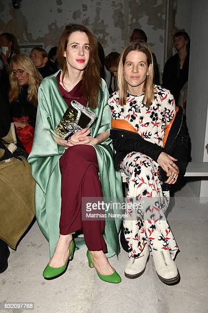 Julia Malik and Aino Laberenz attend the Michael Sontag show during the MercedesBenz Fashion Week Berlin A/W 2017 at Kaufhaus Jandorf on January 19...