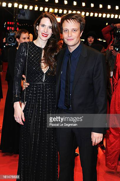 Julia Malik and August Diehl attend the 'Layla Fourie' Premiere during the 63rd Berlinale International Film Festival at the Berlinale Palast on...