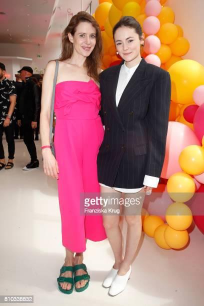 Julia Malik and Lea van Acken attend the Gala Fashion Brunch during the MercedesBenz Fashion Week Berlin Spring/Summer 2018 at Ellington Hotel on...