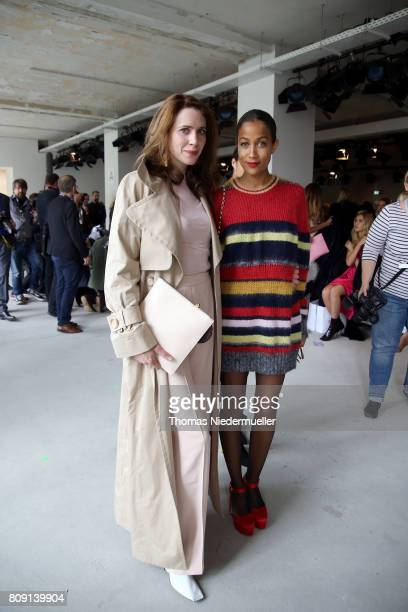 Julia Malik and Rabea Schif attend the Malakaraiss show during the MercedesBenz Fashion Week Berlin Spring/Summer 2018 at Kaufhaus Jandorf on July 5...