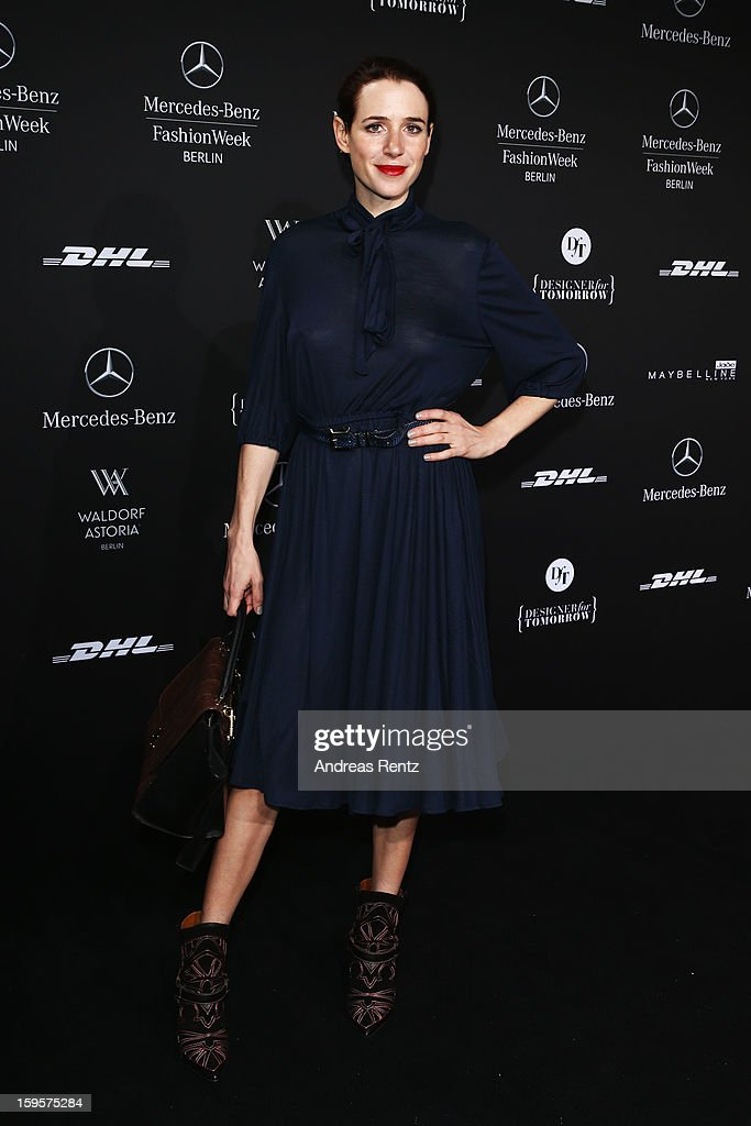 Julia Malik attends Holy Ghost Autumn/Winter 2013/14 fashion show during Mercedes-Benz Fashion Week Berlin at Brandenburg Gate on January 16, 2013 in Berlin, Germany.