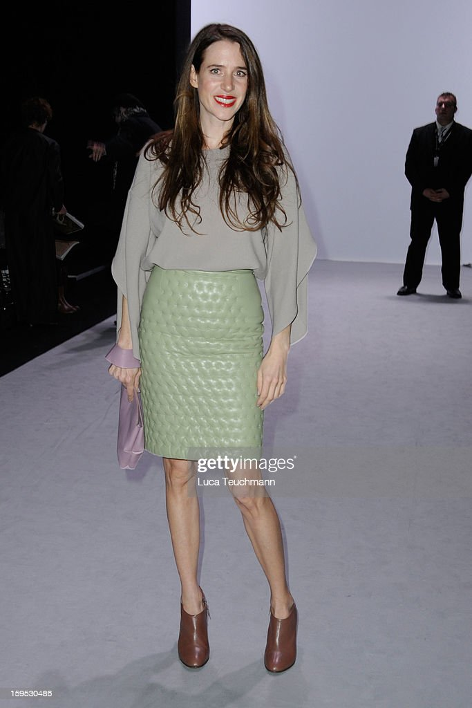 <a gi-track='captionPersonalityLinkClicked' href=/galleries/search?phrase=Julia+Malik&family=editorial&specificpeople=2853278 ng-click='$event.stopPropagation()'>Julia Malik</a> attends Perret Schaad Autumn/Winter 2013/14 fashion show during Mercedes-Benz Fashion Week Berlin at Brandenburg Gate on January 15, 2013 in Berlin, Germany.