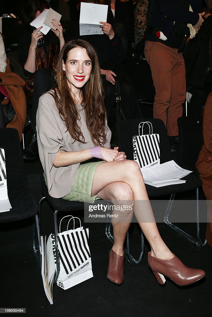 Julia Malik attends Perret Schaad Autumn/Winter 2013/14 fashion show during Mercedes-Benz Fashion Week Berlin at Brandenburg Gate on January 15, 2013 in Berlin, Germany.