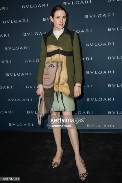 Julia Malik attends the 130 years of glam culture party by Bulgari at Kaufhaus Jandorf on February 11 2014 in Berlin Germany