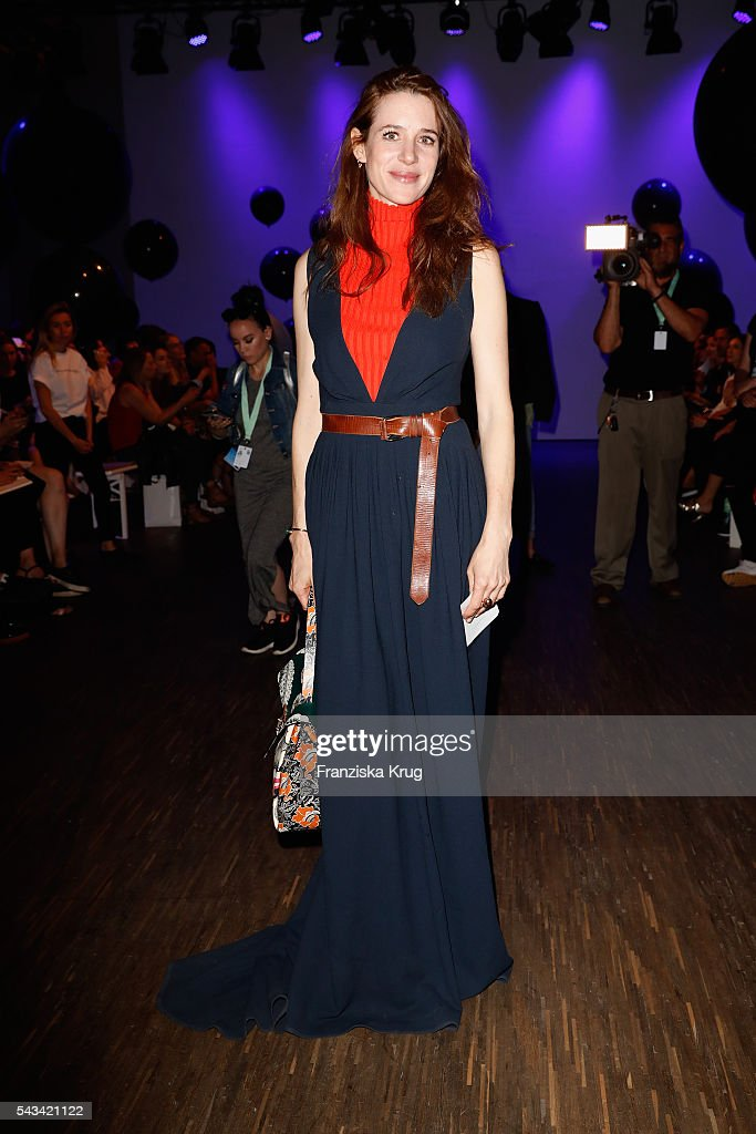 Julia Malik attends the Dawid Tomaszewski show during the Mercedes-Benz Fashion Week Berlin Spring/Summer 2017 at Stage at me Collectors Room on June 28, 2016 in Berlin, Germany.