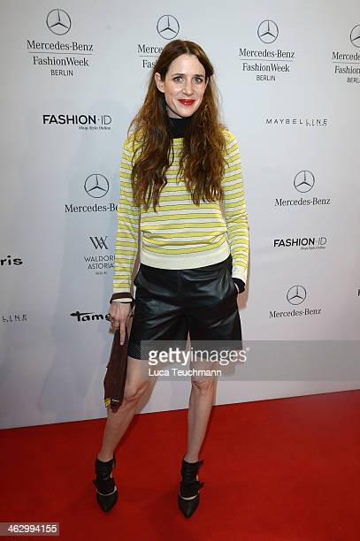 Julia Malik attends the Marc Cain show during MercedesBenz Fashion Week Autumn/Winter 2014/15 at Brandenburg Gate on January 16 2014 in Berlin Germany