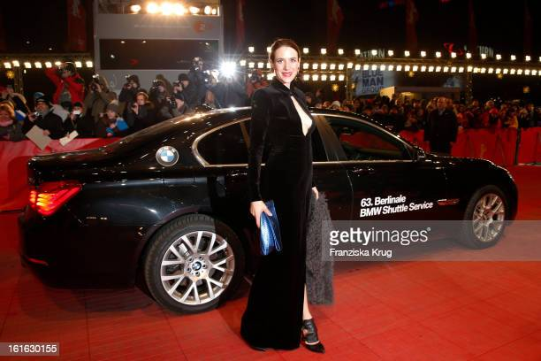 Julia Malik attends the 'Night Train To Lisbon' Premiere BMW at the 63rd Berlinale International Film Festival at Berlinale Palast on February 13...