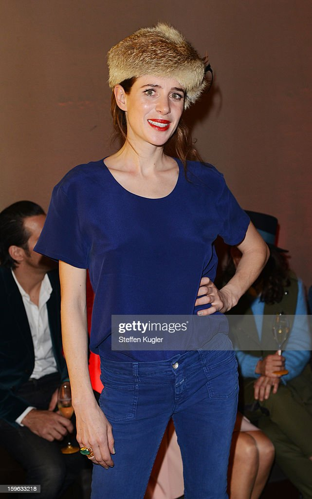 Julia Malik poses during Burda Style Group Cocktail on January 17, 2013 in Berlin, Germany.