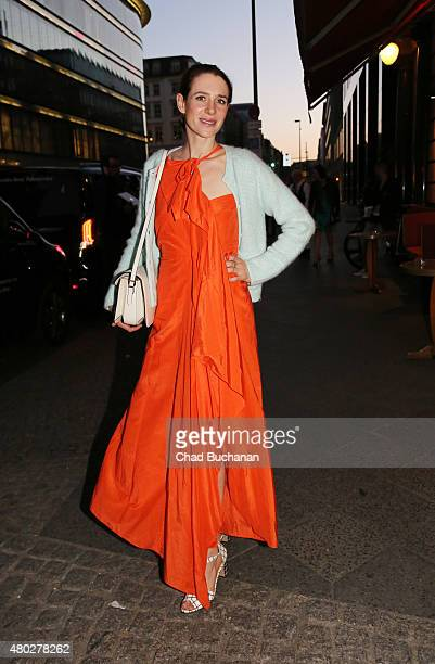 Julia Malik sighted arriving to Mercedes Benz Vogue Fashion Night at Borchardt's Restaurant on July 10 2015 in Berlin Germany