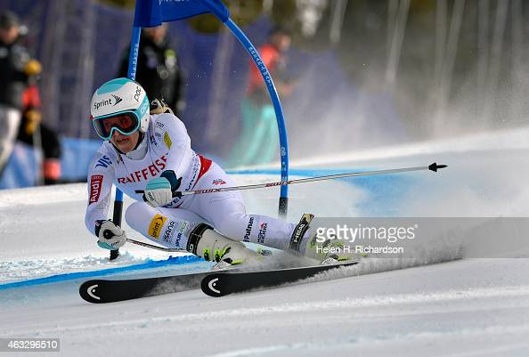 Julia Mancuso of the United States competes in the second run of the Ladies Giant Slalom event at the FIS Alpine World Ski Championships in Beaver...