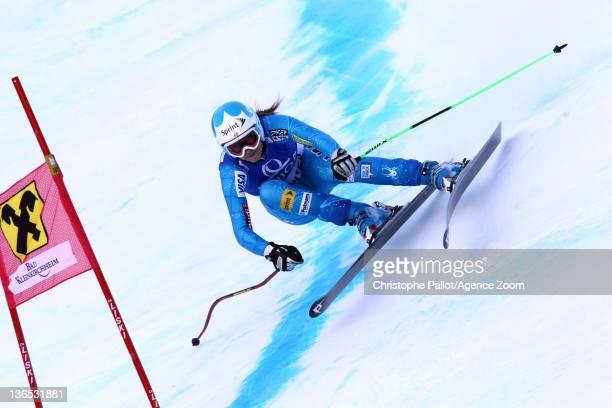 Julia Mancuso of the USA takes 2nd place during the Audi FIS Alpine Ski World Cup Women's Downhill on January 7 2012 in Bad Kleinkirchheim Austria