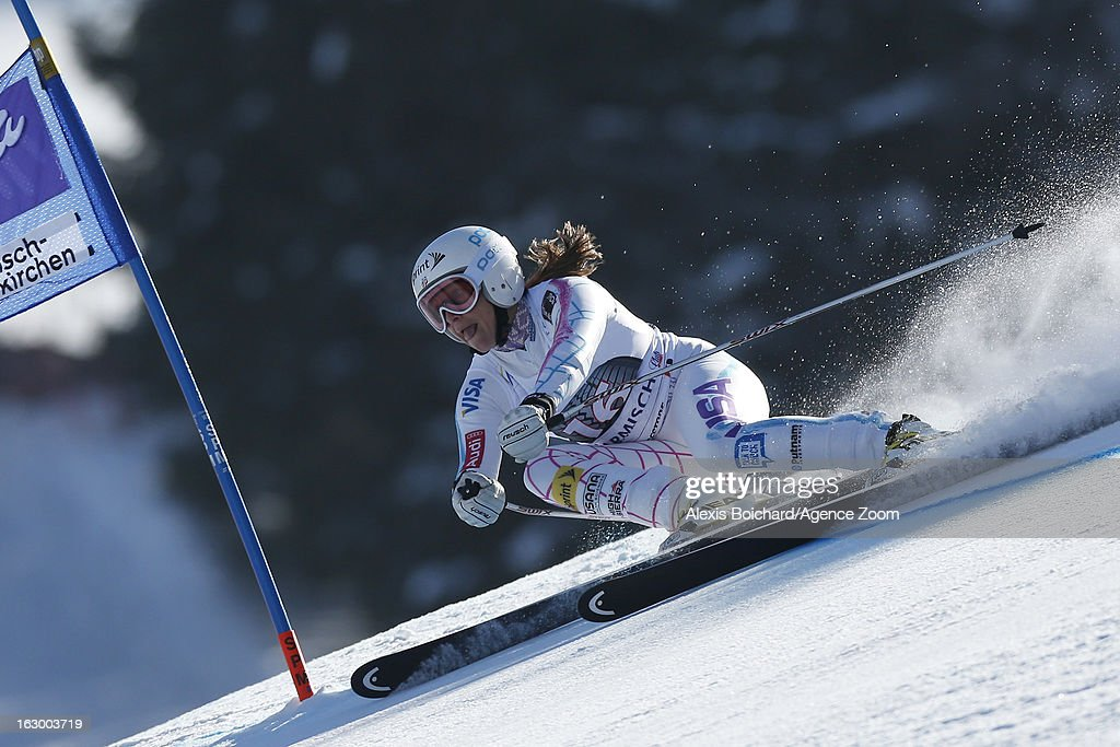 <a gi-track='captionPersonalityLinkClicked' href=/galleries/search?phrase=Julia+Mancuso&family=editorial&specificpeople=214615 ng-click='$event.stopPropagation()'>Julia Mancuso</a> of the USA takes 3rd place during the Audi FIS Alpine Ski World Cup Women's SuperG on March 03, 2013 in Garmisch-Partenkirchen, Germany.