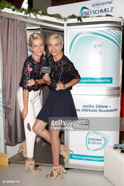 Julia Meise and Nina Meise attend the Gala Fashion Brunch during the MercedesBenz Fashion Week Berlin Spring/Summer 2018 at Ellington Hotel on July 7...