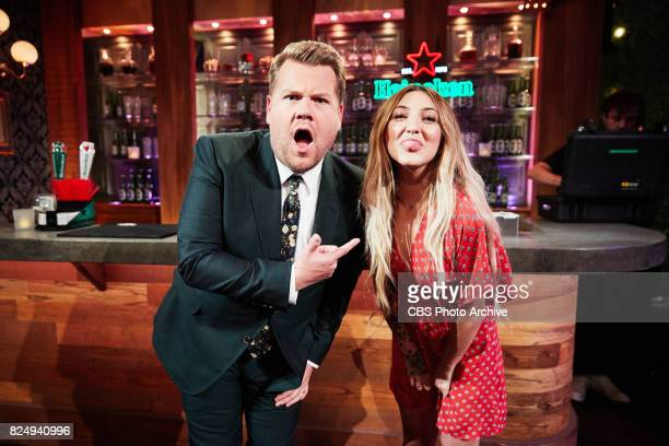 Julia Michaels chats with James Corden during 'The Late Late Show with James Corden' Thursday July 27 2017 On The CBS Television Network