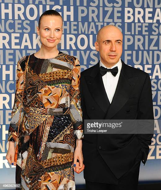 Julia Milner and Yuri Milner attend the annual Breakthrough Prize ceremony at NASA Ames Research Center on November 8 2015 in Mountain View California