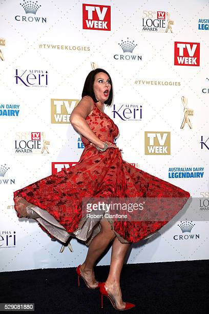 Julia Morris arrives at the 58th Annual Logie Awards at Crown Palladium on May 8 2016 in Melbourne Australia