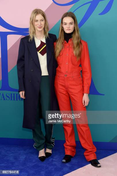 Julia Nobis and Lulu attend the 2017 CFDA Fashion Awards at Hammerstein Ballroom on June 5 2017 in New York City