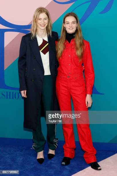 Julia Nobis and Lulu Tenney attend the 2017 CFDA Fashion Awards at Hammerstein Ballroom on June 5 2017 in New York City