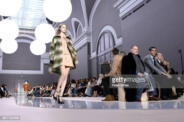 Julia Nobis general view walks the runway during the Chloe show as part of the Paris Fashion Week Womenswear Fall/Winter 2017/2018 on March 2 2017 in...