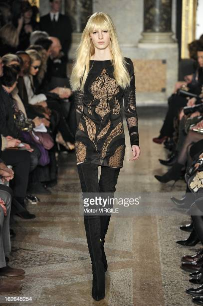 Julia Nobis walks the runway at the Emilio Pucci Ready to Wear Fall/Winter 20132014 fashion show as part of Milan Fashion Week Womenswear Fall/Winter...