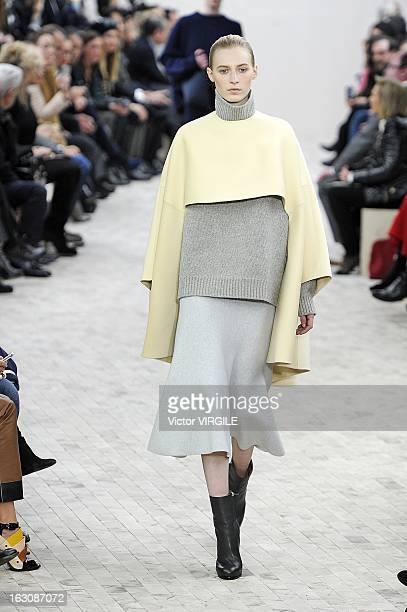 Julia Nobis walks the runway during the Celine Ready to Wear Fall/Winter 20132014 show as part of the Paris Fashion Week on March 03 2013 in Paris...