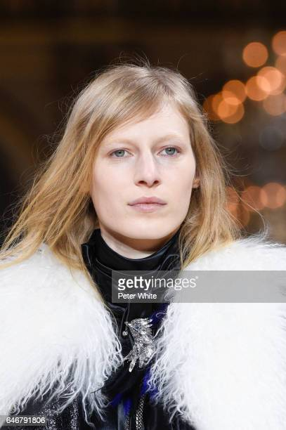 Julia Nobis walks the runway during the Lanvin show as part of the Paris Fashion Week Womenswear Fall/Winter 2017/2018 on March 1 2017 in Paris France