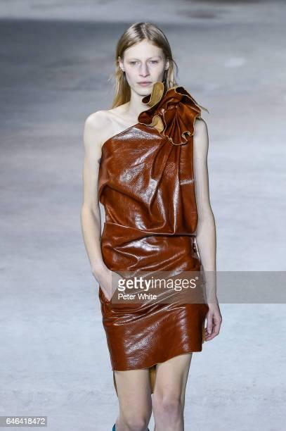 Julia Nobis walks the runway during the Saint Laurent show as part of the Paris Fashion Week Womenswear Fall/Winter 2017/2018 >> on February 28 2017...