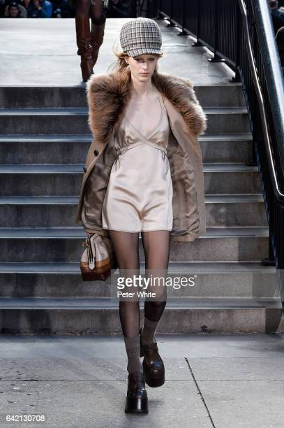 Julia Nobis walks the runway for the Marc Jacobs Fall 2017 Show at Park Avenue Armory on February 16 2017 in New York City