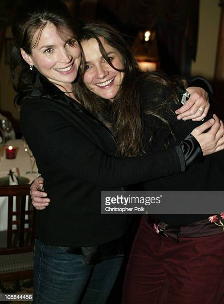 Julia Ormond and and Director Katja von Garnier during HBO's Iron Jawed Angels Premiere and Dinner at Washo's Resturant in Park City UT United States