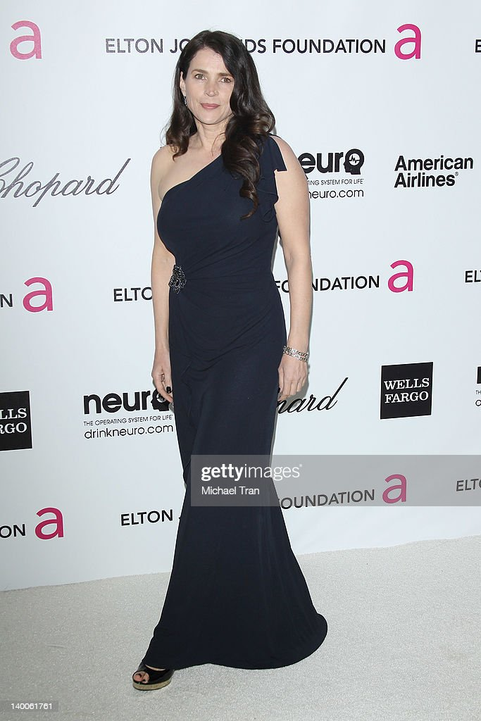 Julia Ormond arrives at the 20th Annual Elton John AIDS Foundation Academy Awards viewing party held across the street from the Pacific Design Center on February 26, 2012 in West Hollywood, California.