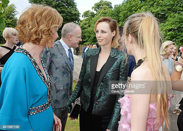 Julia Peyton Jones HansUlrich Obrist Edie Campbell and guest attend The Serpentine Gallery Summer Party cohosted by Brioni at The Serpentine Gallery...