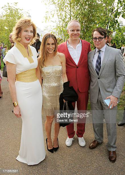 Julia Peyton Jones Sarah Jessica Parker Hans UlrichObrist and Matthew Broderick attend the annual Serpentine Gallery Summer Party cohosted by L'Wren...