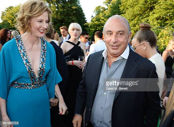 Julia PeytonJones and Sir Philip Green attend The Serpentine Gallery Summer Party cohosted by Brioni at The Serpentine Gallery on July 1 2014 in...