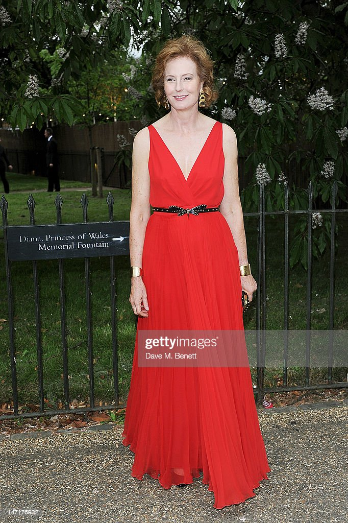 Julia Peyton-Jones arrives at the Serpentine Gallery Summer Party sponsored by Leon Max at The Serpentine Gallery on June 26, 2012 in London, England.