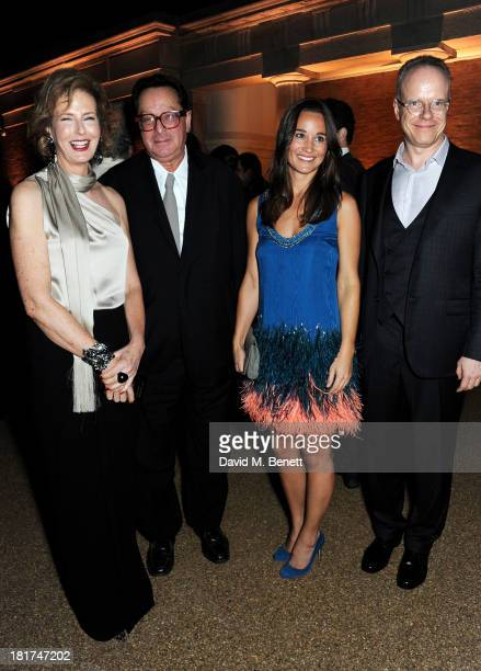 Julia PeytonJones Lord Maurice Saatchi Pippa Middleton and HansUlrich Obrist attend a donors dinner hosted by Michael Bloomberg Graydon Carter to...