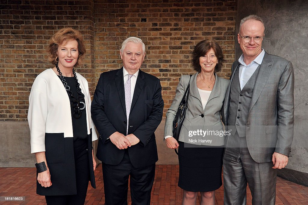 <a gi-track='captionPersonalityLinkClicked' href=/galleries/search?phrase=Julia+Peyton-Jones&family=editorial&specificpeople=2130494 ng-click='$event.stopPropagation()'>Julia Peyton-Jones</a>, Norman Lamont, Baron Lamont of Lerwick, Lady Rosemary Lamont and Hans-Ulrich Obrist attends the VIP opening of The Serpentine Sackler Gallery & Autumn Exhibitions at The Serpentine Sackler Gallery on September 25, 2013 in London, England.