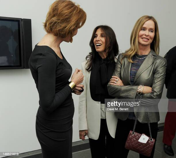 Julia PeytonJones Olivia Harrison and Barbara Bach attend a Council Reception launching Yoko Ono's exhibition 'To The Light' at The Serpentine...